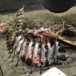 【新潟 浦佐のやな】 鮎の塩焼きを頂きながら「のんびり時間」を楽しむ。