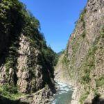 新潟 清津峡 日本三大峡谷を見てきた。